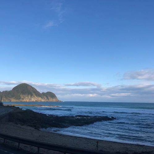 冬では珍しく、穏やかな竹野浜♪