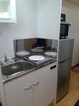 A号室(桜)キッチンまわり
