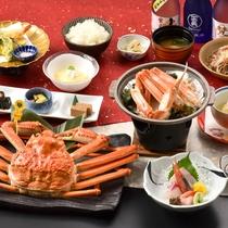*2019年 冬 蟹付会席 ~ 茹で立てあつあつズワイ蟹1杯(越前産)を含むカニ料理全3品付き
