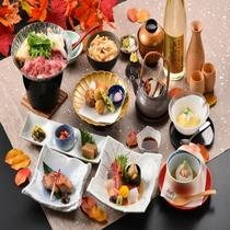 2019年 秋 紫御膳 ~ 旬の食材を厳選し、心を込めてお届けする和食膳。ゆらりの定番!(
