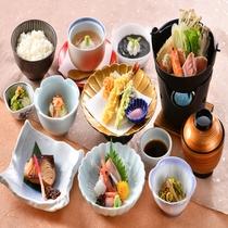 2019年 冬 ミニ会席 ~ 新鮮なお造りや、天ぷらなど。旬の食材をお楽しみください