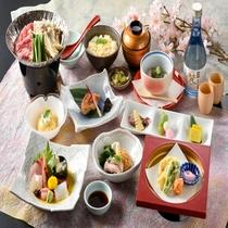 【紫御膳】旬の食材を厳選し、心を込めてお届けする和食膳。ゆらりの定番!(2019年春)