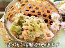桜海老と山菜のかき揚げ
