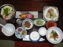 きりたんぽプランの夕食例