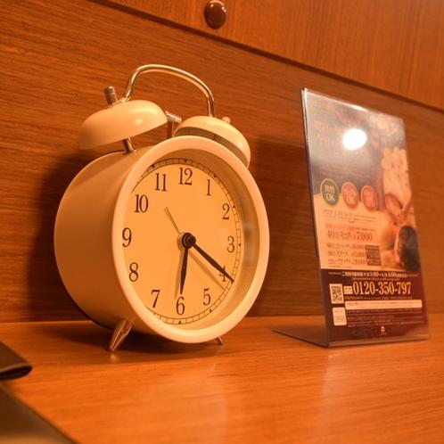 【客室設備】目覚まし時計