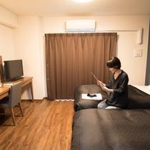 【客室】ツインルーム禁煙・お一人様も宿泊可能です。