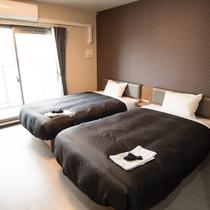 【客室】ツインルーム禁煙・全室25平米以上・バストイレセパレート