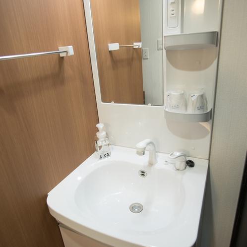【客室設備】洗面台(フェイスウォッシュ完備)