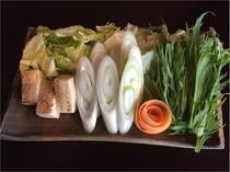 すき焼きのお野菜