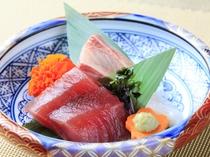 ご夕食1例 山イメージの強い箱根ですが、小田原の漁港も近く魚介類に恵まれています