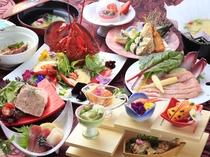 宮ノ下会席 ご夕食1例 アンチエイジング効果を持つ食材を使い、素材本来の味を生かしたメニューをご提供