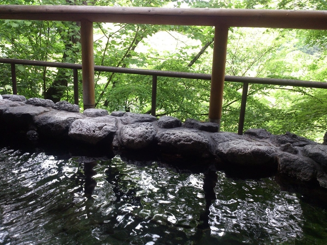 新緑の露天風呂(5月)