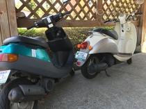 2台のレンタル原付バイク