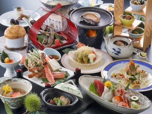 【GoTo特別プラン】今でしょ!カニしゃぶとアワビのステーキ付き 海の恵み会席膳