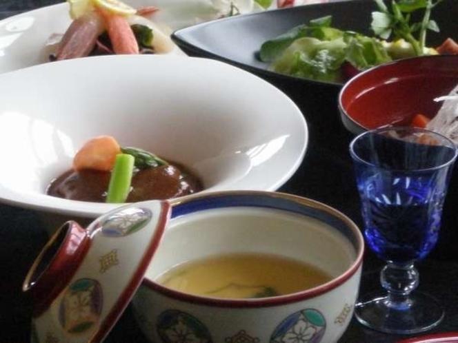 半露天風呂付☆離れ宿プラン 創作料理一例