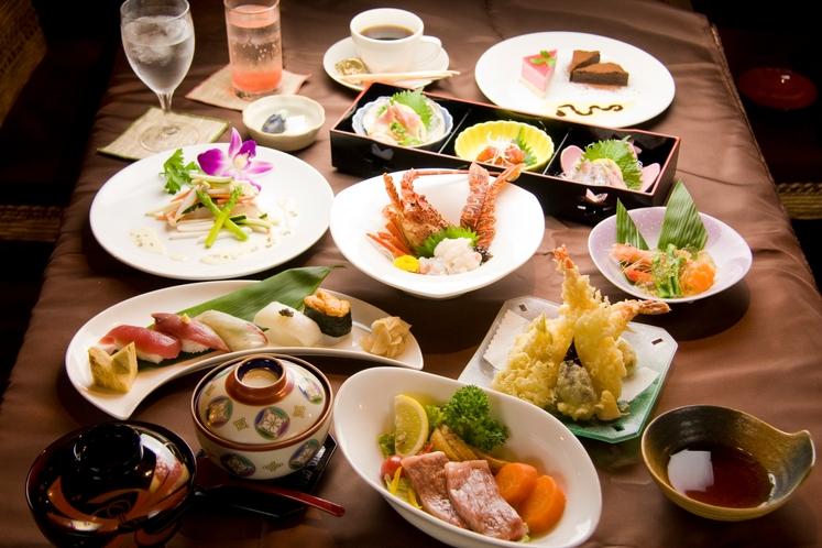 半露天風呂付★離れ宿プラン 創作フルコース料理一例 ※季節により食材が異なります
