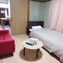 【マンスリーコーポ(1~2名)】14連泊以上から宿泊可能です。