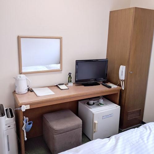 【客室一例】シングルルーム ビジネスや一人旅の利用にオススメです!