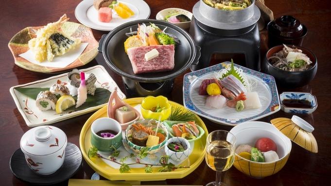 【福井自慢のぴっちぴち鮮魚&牛ステーキ】付◆一番人気の特選会席【水仙-SUISEN】