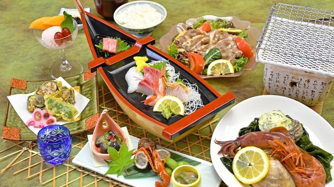 夏限定♪メインは赤海老・はまぐりなど人気海鮮の網焼き!夏の旬をまるごと味わう〇汐彩−しおさい−