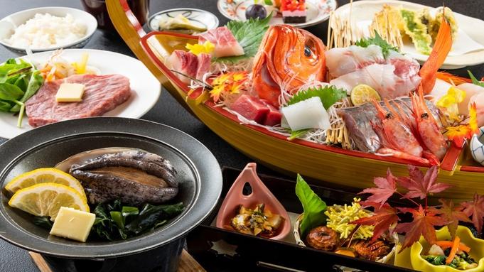 厳選食材の饗宴!新鮮お造り豪華舟盛と和牛ステーキ付◆極上会席【極み-KIWAMi】