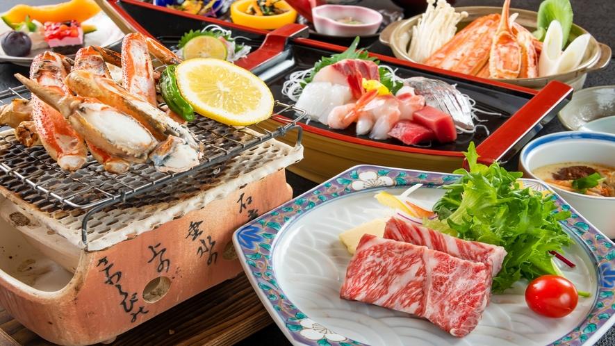 若狭牛ステーキ&蟹すき&蟹焼きで身も心も大満足!