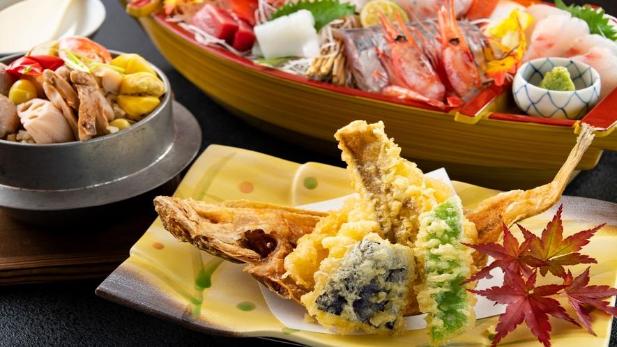 揚げたての天ぷらをご堪能下さい