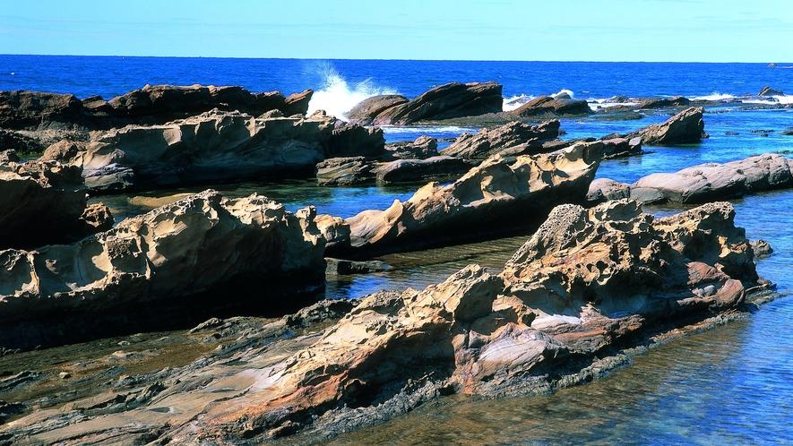 越前海岸「弁慶の洗濯岩」
