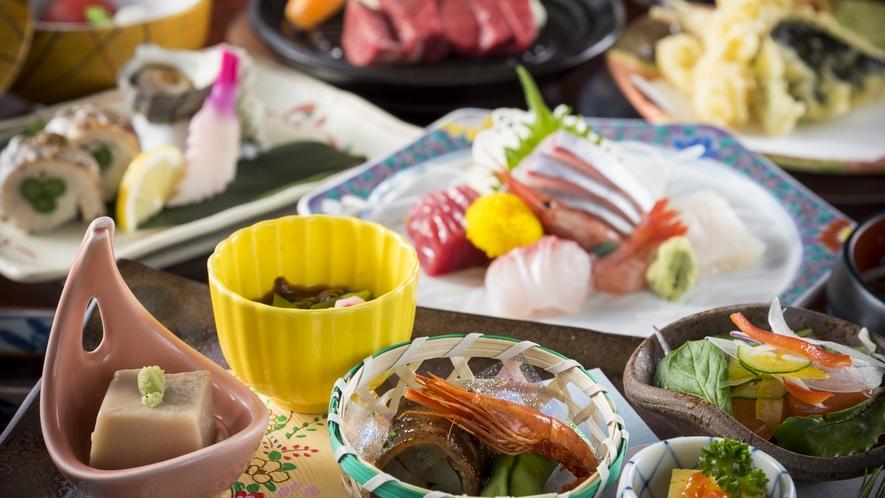 旬の食材をふんだんに取り入れたスタンダード会席のイメージ