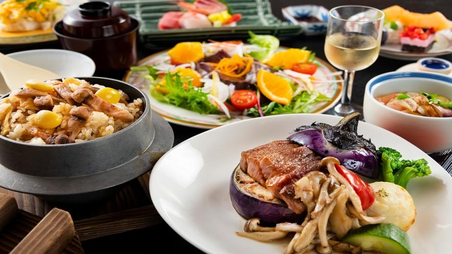 松茸釜飯に、秋茄子と味わう和牛ステーキなど、秋の味覚盛り沢山♪