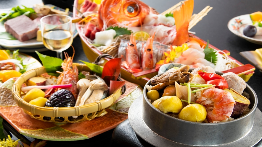 秋の味覚満載!彩り豊かなお料理の数々