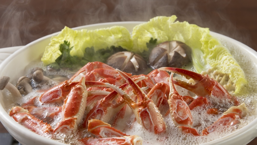 蟹の出汁が染み渡る美味しさ満点蟹鍋!