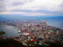 函館山からの函館の街並み 昼間の風景