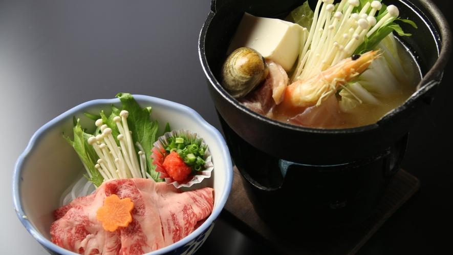 16:9_☆料理 夕食 海鮮鍋+牛