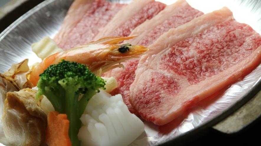16:9_☆料理 夕食 氷見牛ステーキ
