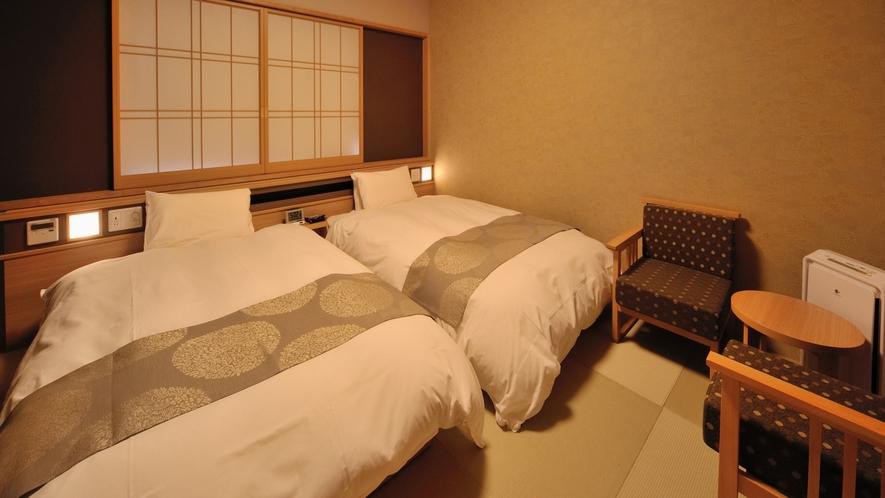 ◇2階ツインルーム 20.5~24.1平米 (110×195センチ)