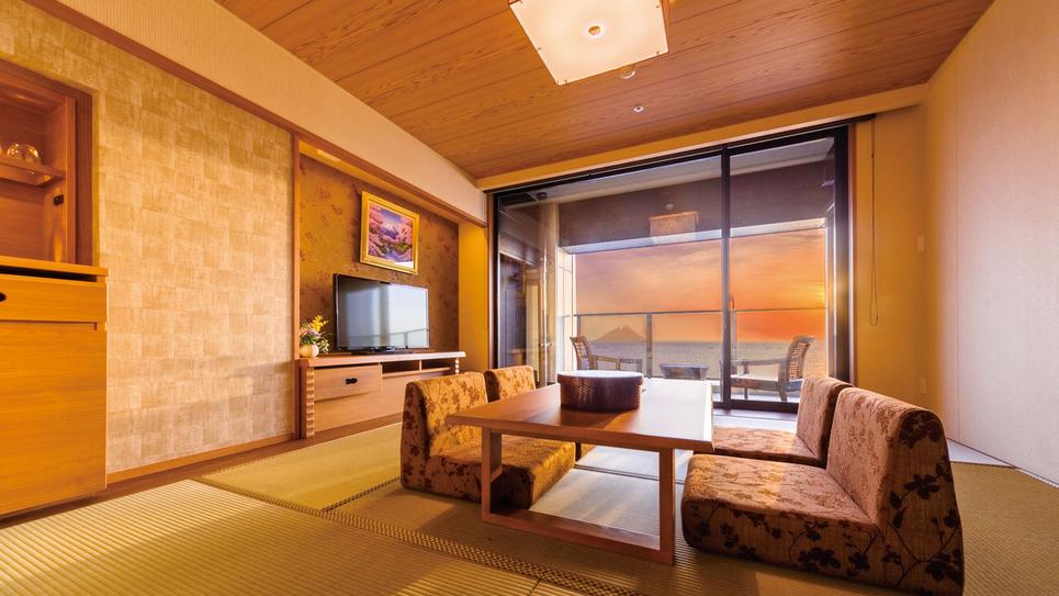 **【客室:特別室(一例)】東京湾に沈む夕陽を眺めることもできます