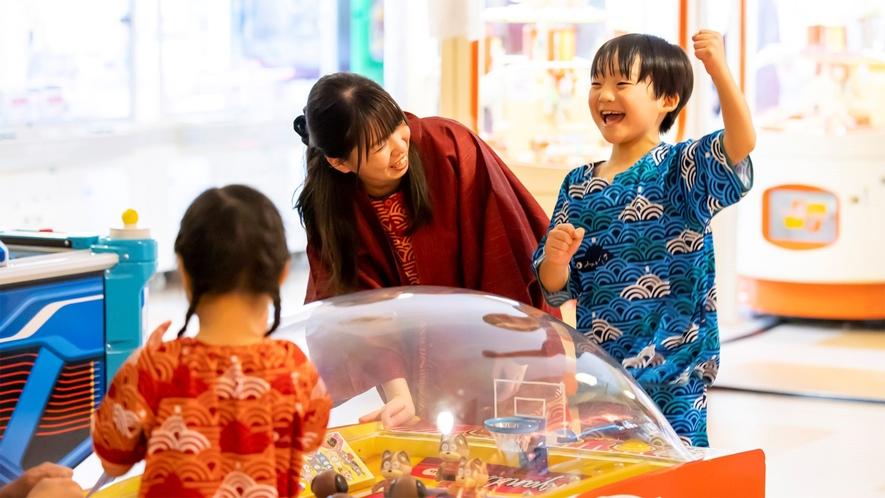 *【お祭りランド ゲームセンター(一例)】楽しいゲームにお子様の笑顔もいっぱい!