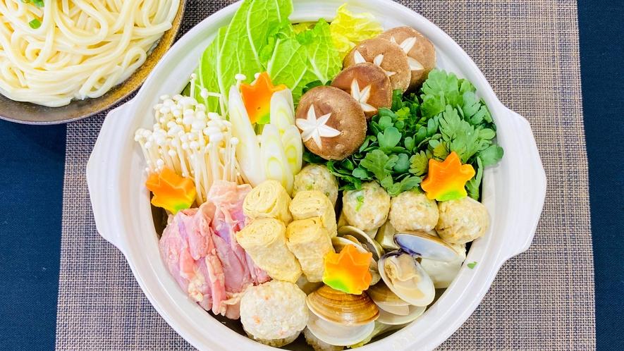 「塩ちゃんこ鍋」コテージ内でお召し上がりいただける鍋プラン!料理長が用意する鍋は毎年好評♪