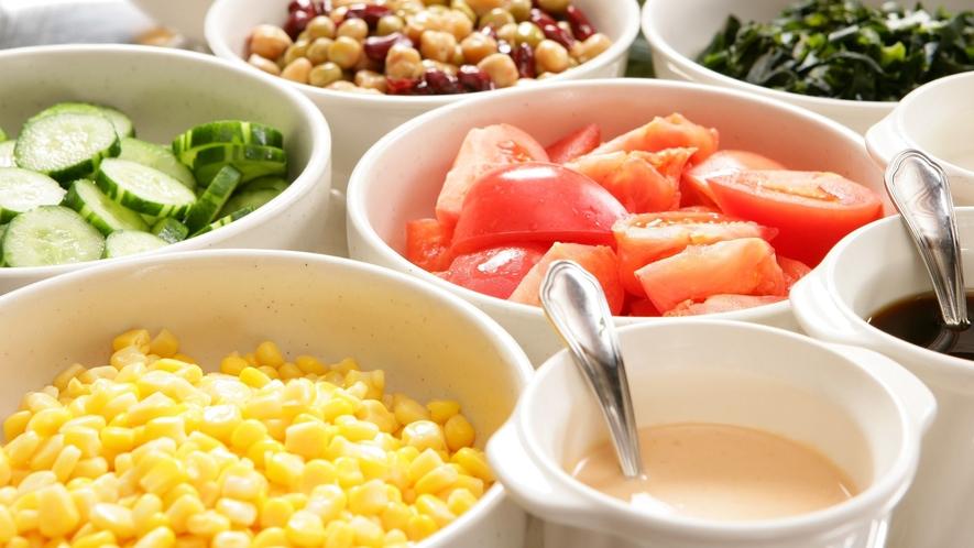 50種類の朝食バイキング「サラダ」