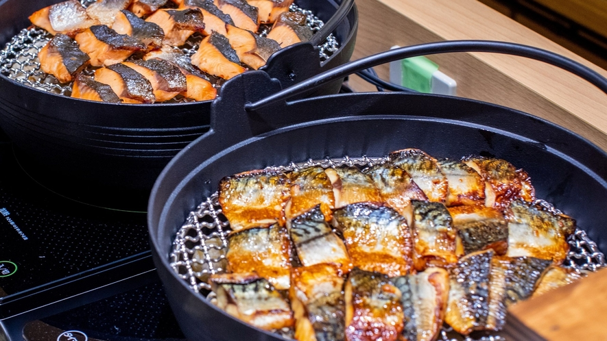 50種類の朝食バイキング「焼き魚」