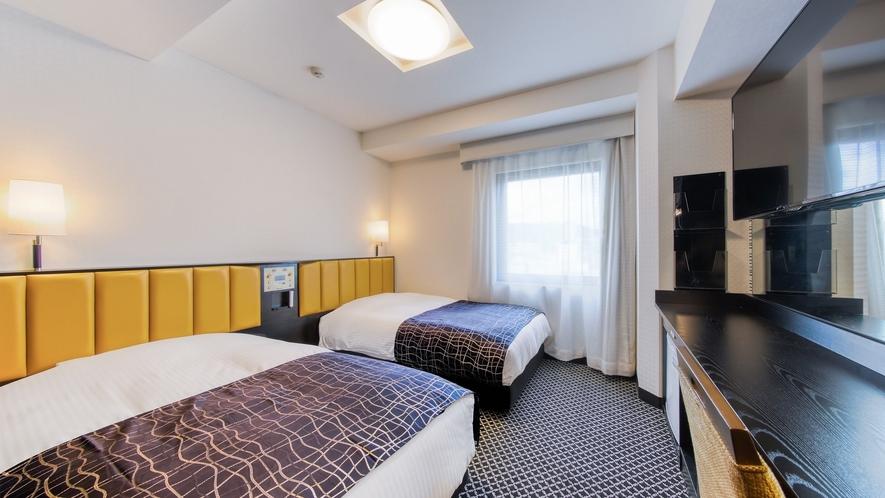 ツインルーム(15㎡/ベッド幅110cm×2台)
