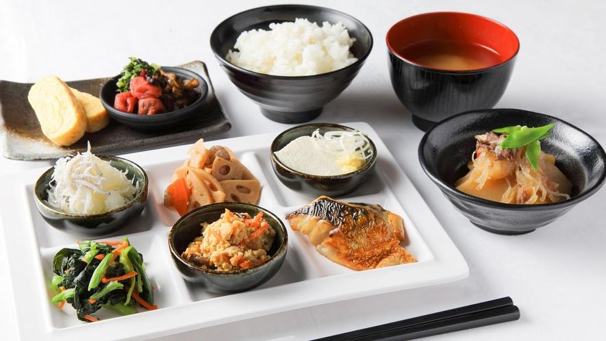 50種類の朝食バイキング「和食」