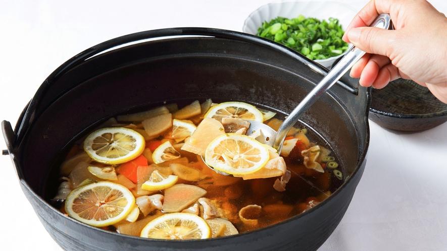 50種類の朝食バイキング「広島県産 レモン鍋」