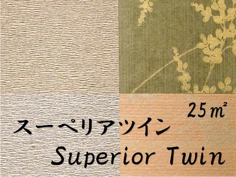 【スーペリアツイン】25m2
