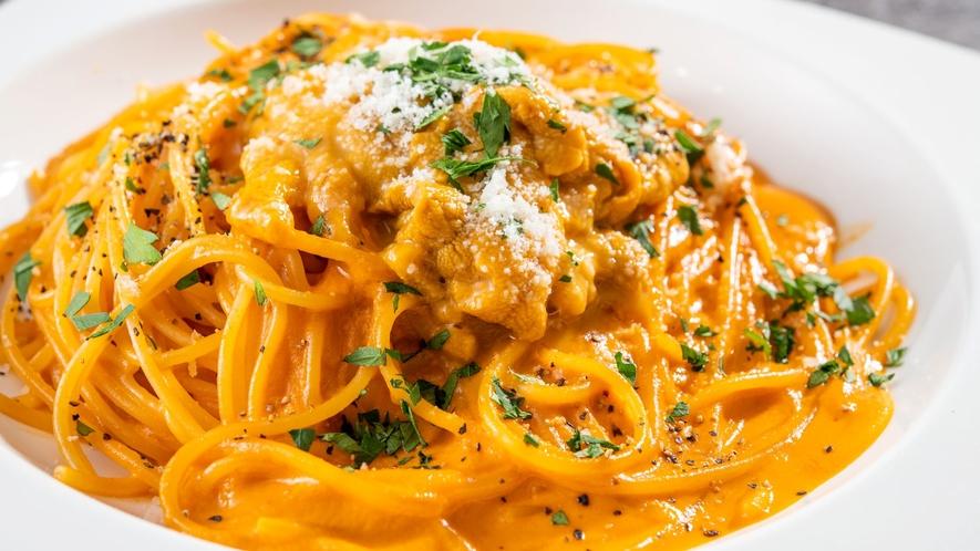 ランチ/生うにのトマトクリームスパゲッティ