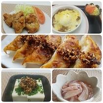 夕食(一例)※御膳・鍋・麺のセットメニューからお選び頂けます。