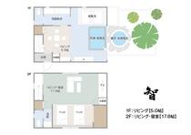 間取り【智】内湯・露天風呂付き離れの一軒家(メゾネット・和室)