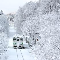 雪景色札沼線