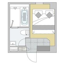 客室図面/アマネクダブル(amanek dable)/コージーツインへの変更も可能